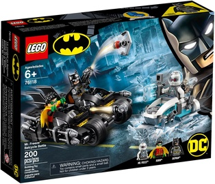 Lego Blocks Heroes Mr. Freeze Batcycle Battle 76118