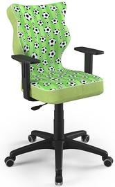 Детский стул Entelo Duo Size 5 ST29, черный/зеленый, 375 мм x 1000 мм