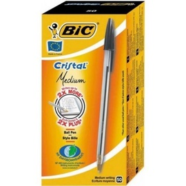 BIC Cristal Medium Ball Pen Black 50pcs