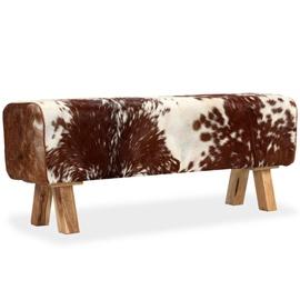 Tumba VLX Genuine Goat Leather 244753, pruun/valge, 120 cm x 30 cm x 45 cm