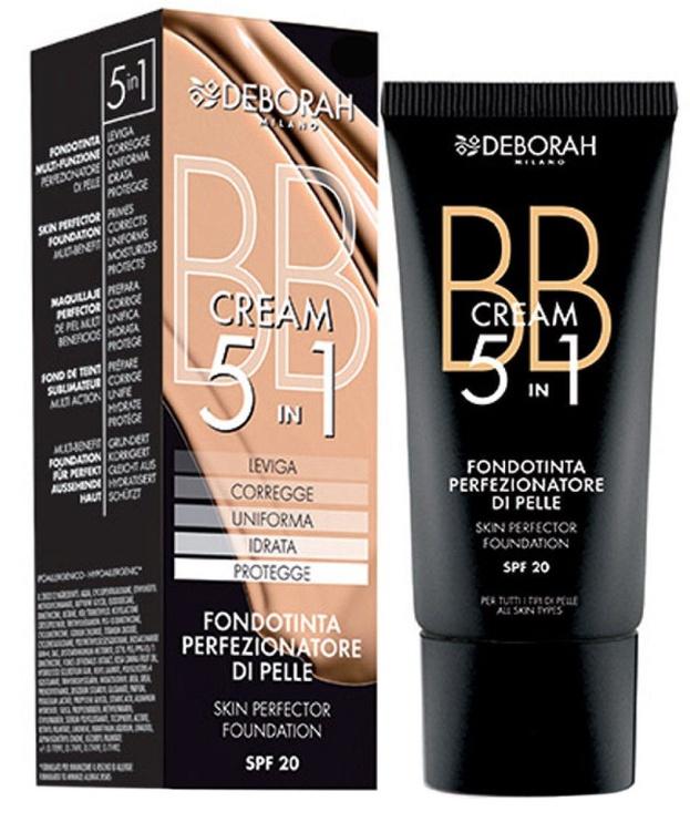 BB sejas krēms Deborah Milano 5in1 Foundation SPF20 02, 30 ml