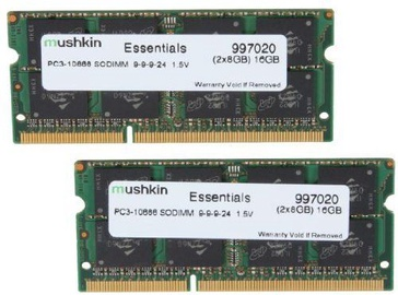 Mushkin Essentials 16GB DDR3 1333MHz CL9 SO-DIMM Kit Of 2 997020