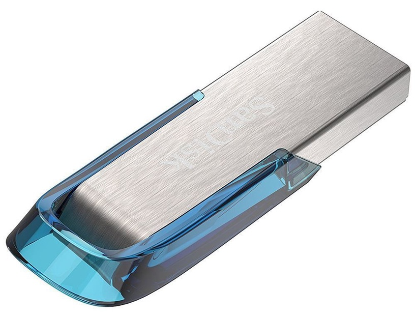 USB atmintinė SanDisk Ultra Flair Blue/Silver, USB 3.0, 128 GB