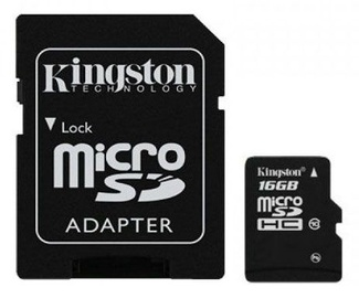 Kingston 16GB Micro SDHC Class 10 + SD adapter