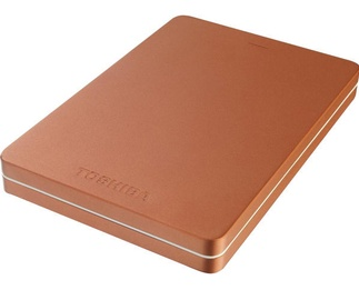 "Toshiba 2TB Canvio Alu 2.5"" USB 3.0 Metallic Red"