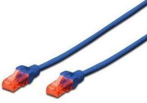 Digitus Premium CAT 6 UTP Patch Cable Blue 1m