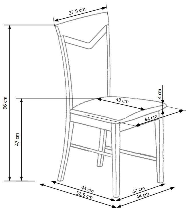 Стул для столовой Halmar Citrone White/Inari 23, 1 шт.