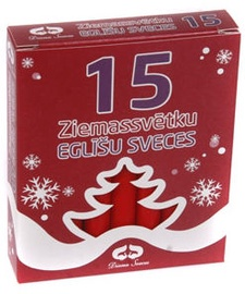 Diana Candles Christmas Tree Candles Red 15pcs