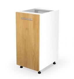 Apakšējais virtuves skapītis Halmar, brūna/balta, 400x520x820 mm