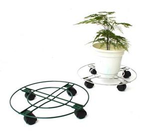 Garden Center Flower Stand With Wheels Ø25cm Green