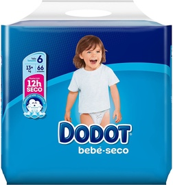 Dodot Baby Dry Diapers T6 66pcs