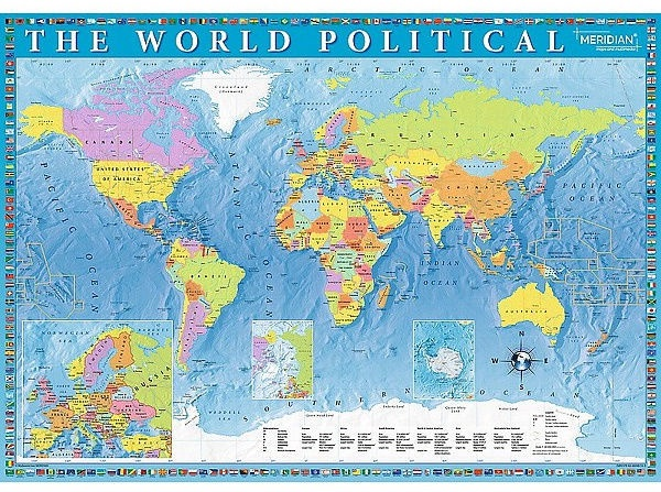 Map Of The World Picture.Treflthe World Political Map Puzzle 2000pcs 27099