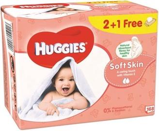 Mitrās salvetes Huggies Soft Skin, 168 gab.