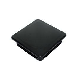 Vagner Rectangular Plastic Cap 80x80mm Black