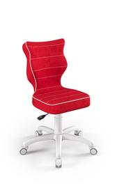 Детский стул Entelo Petit VS09, белый/красный, 350 мм x 830 мм