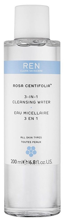 Makiažo valiklis Ren Clean Skincare Rosa Centifolia 3in1 Cleansing Water, 200 ml