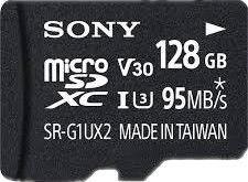 Sony 128GB MicroSDXC UHS-I SR-G1UX2A