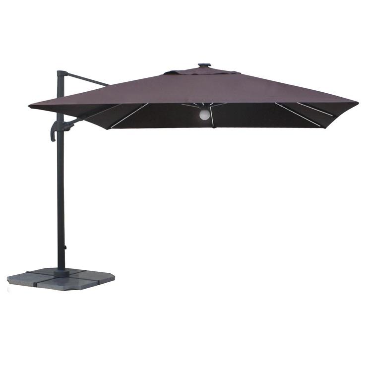 Sodo skėtis Masterjero Bright Night Big, su LED apšvietimu, 3 x 3.5 m