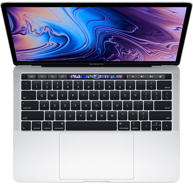 """Apple MacBook Pro 13.3"""" with Touch Bar 2019 Mojave Silver MUHR2RU/A"""