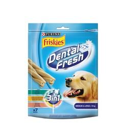 Skanėstai šunims Friskies Dental Fresh, su mėsa ir javais, 180 gr