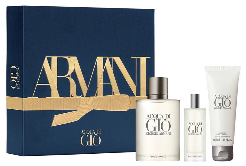 Набор для мужчин Giorgio Armani Acqua di Gio Pour Homme 100 ml EDT + 75 ml Shower Gel + 15 ml EDT