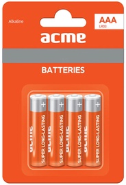Acme LR03 Alkaline Batteries AAA 4pcs