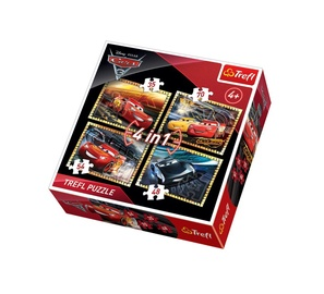Trefl 4-in-1 Cars 3 Ready To Race Puzzle 34276