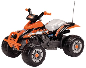 Žaislinis akumuliatorinis keturratis Peg Perego Corral T-Rex Black/Orange IGOR0066