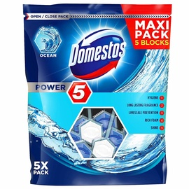 Domestos Ocean Toilet Block 5pcs