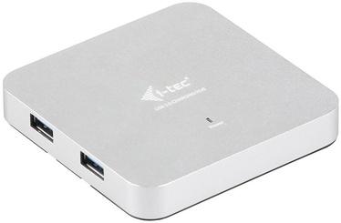 USB-разветвитель (USB-hub) I-Tec USB 3.0 4 Port Metal Hub with Network Adapter