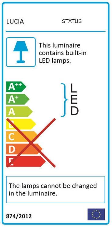 Lucia Status Lamp LED 10W 4000K Black
