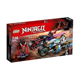Konstruktorius LEGO Ninjago,  Gatvės lenktynės 70639