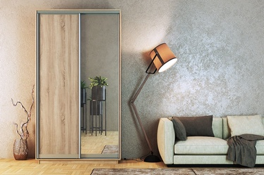 MN 3142006 Wardrobe w/ Sliding Doors And Mirror Santana Oak