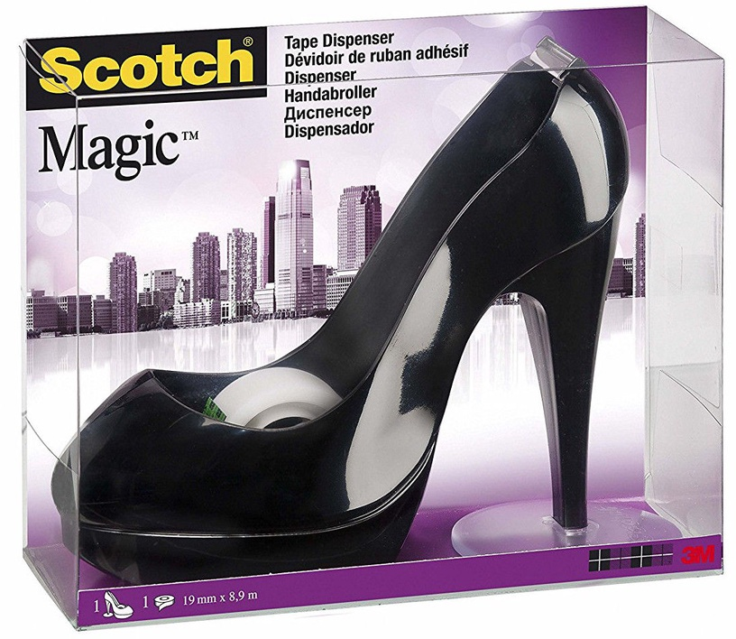 3M Scotch Magic Tape Dispenser Shoe Black