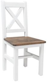 Signal Meble Chair Poprad White/Brown Oak