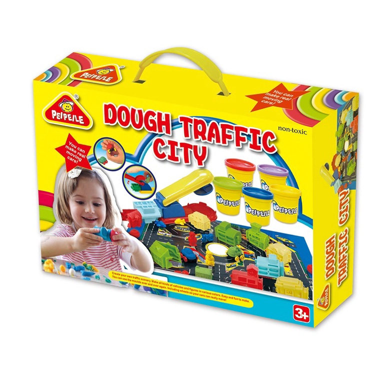 Modelino rinkinys Peipeile Dough Traffic City 3910