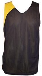 Bars Mens Basketball Shirt Black/Yellow 173 M