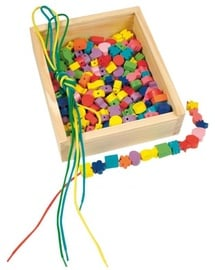 Woodyland Wooden Various Shape And Color Beads 204pcs