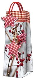 Paw Decor Collection Gift Bag For Bottle Winter Rowan