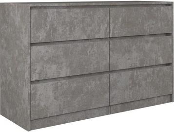 Top E Shop Karo K120 Chest Of 6 Drawers Concrete