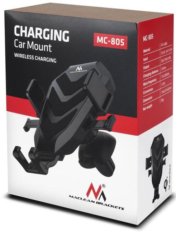 Telefono laikiklis Maclean MC-805 Phone Car Holder With Qualcomm Wireless Charger Black