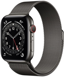 Nutikell Apple Watch Series 6 GPS LTE 40mm Stainless Steel, must