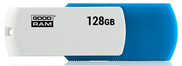 USB atmintinė Goodram Colour White/Blue, USB 2.0, 128 GB