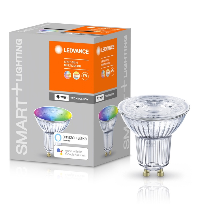 Viedā spuldze Ledvance LED, GU10, PAR16, 5 W, 350 lm, 2700 - 6500 °K, rgb, 1 gab.