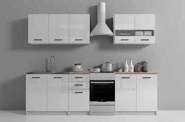 Top E Shop Kitchen Furniture Set White Oak Gloss