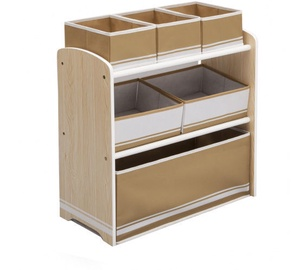 Delta Children Multi Bin Toy Organizer Natural