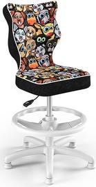 Entelo Petit Black HC+F Size 3 Children Chair ST28 White/Animals