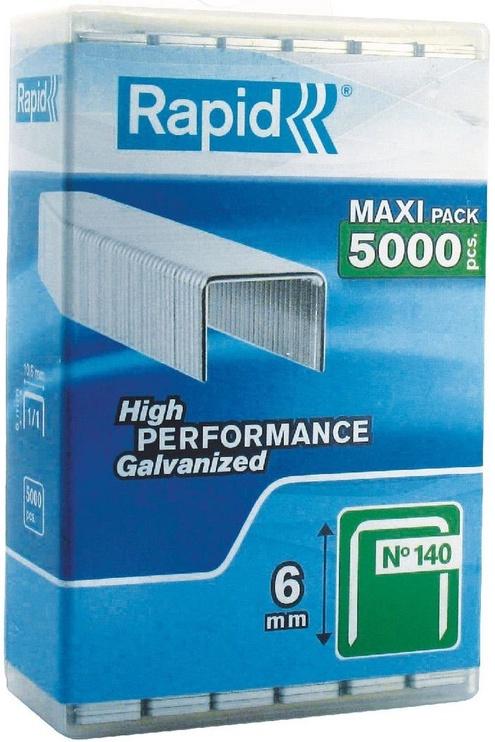 Rapid Flatwire 140/6mm Green Staples 5000pcs