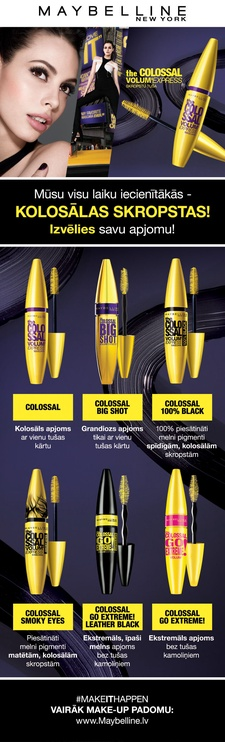Maybelline Colossal Go Extreme Waterproof 9.5ml Very Black