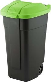 Curver Waste Bin 110L Black/Green